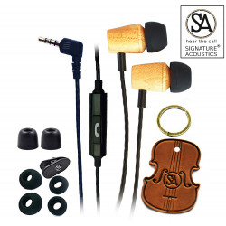Signature Acoustics Elements C12 Version 2.1 In-Ear Wooden IEMs with Mic