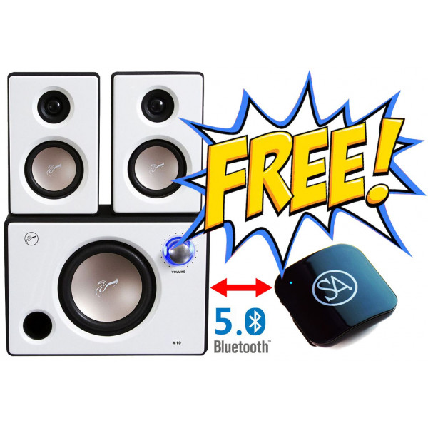 Swans M10 White Combo offer with Signature Acoustics Sparrow - Now Make your Speaker Bluetooth Enabled