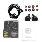 Signature Acoustics RAVEN Triple-Driver Hybrid Modular Hi-Fi Audiophile Earphone 2 Dynamic Drivers + 1 Balanced Armature with Mic(Convertible BT5.0)