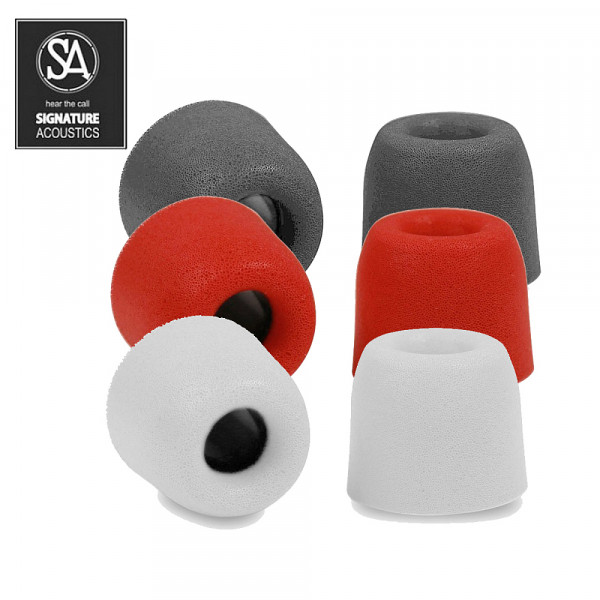 Signature Acoustics™ Premium Replacement Memory Foam Tips Isolation for In-Ear Headphones, Earphone & Earbud