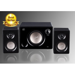 Swans M10 Multimedia Powered 2.1 Speakers System (Black)