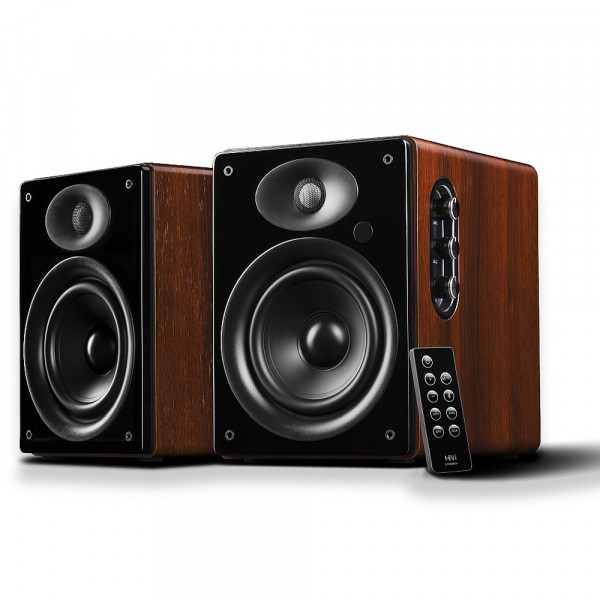 Swans D1080MKII+ Bluetooth Bookshelf Speakers with Remote Control