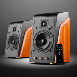 Swans M200MKIII+ Powered 2.0 Bluetooth Bookshelf Speakers from HiVi- HiFi speakers with 1.1'' Dome Tweeters & 5.25'' Midbass Drivers - Solid Wood Cabinet - Highly Detailed Playback of Vocals - 120W