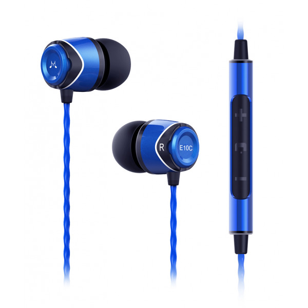 SoundMagic E10C In Ear Isolating Earphones with Mic Blue-Black