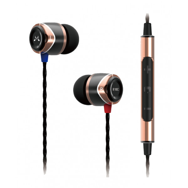 SoundMagic E10C In Ear Isolating Earphones with Mic Gold-Black