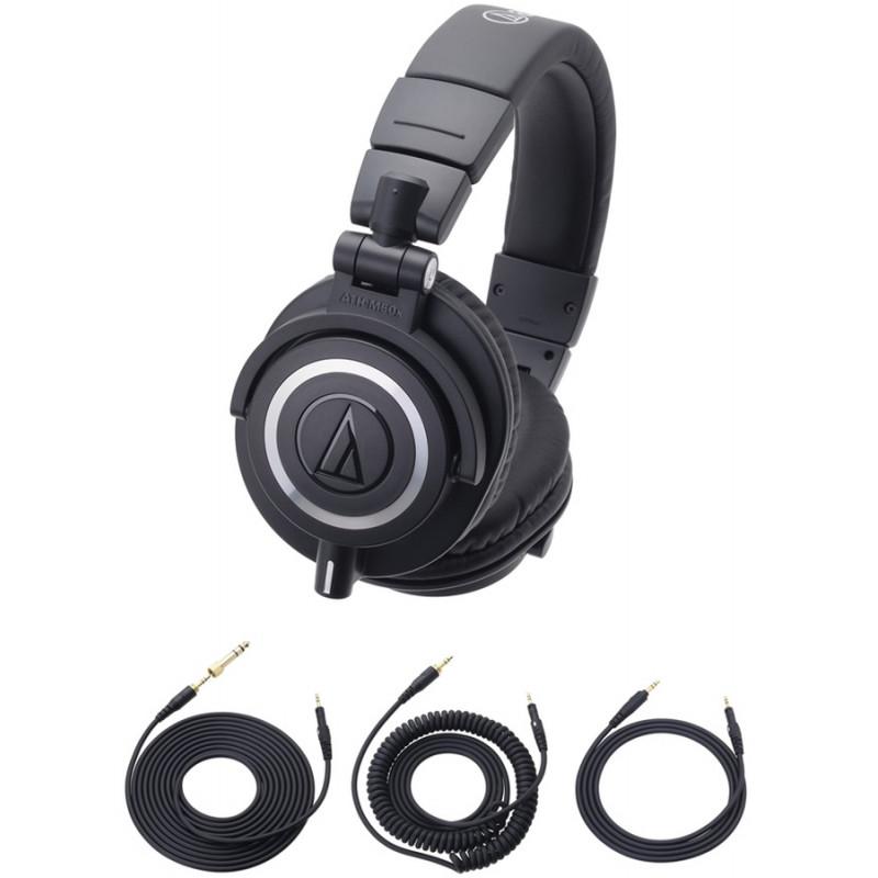 AUDIO-TECHNICA 1.2m detachable straight cord BK for ATH-M50x