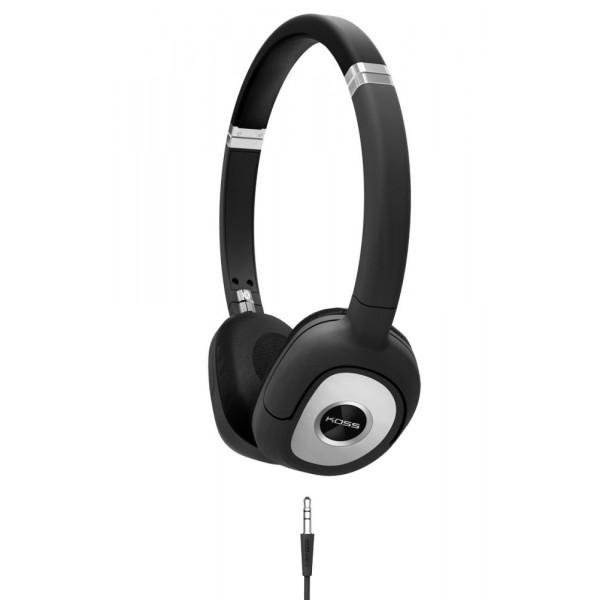 Koss SP330 On Ear Dynamic Headphones Black with Silver Accents