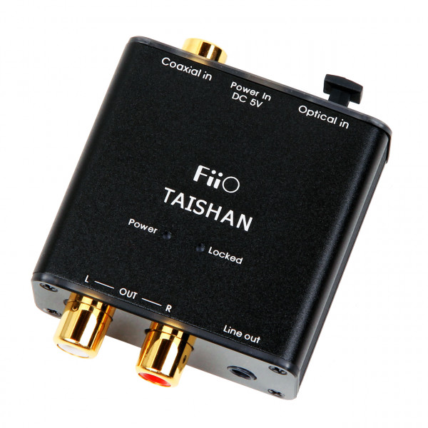 FiiO D03K Taishan Coaxial/Optical to R/L Audio convertor (Black)